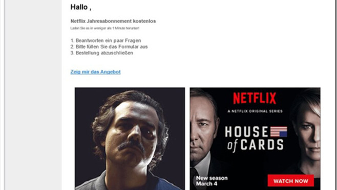 Netflix Fake-Mail©Mimikama
