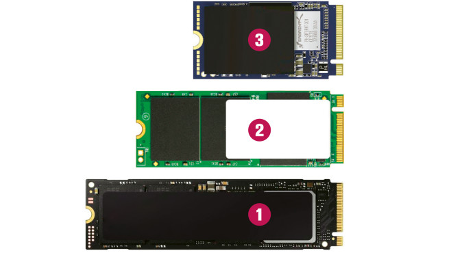 M.2-SSD-Test: Größenvergleich©COMPUTER BILD