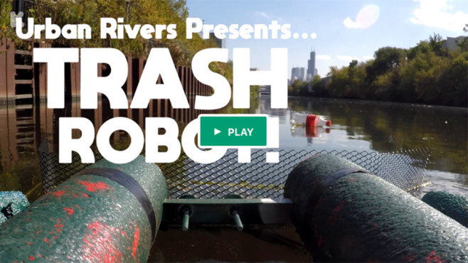 Trashbot im Fluss©Urban Rivers