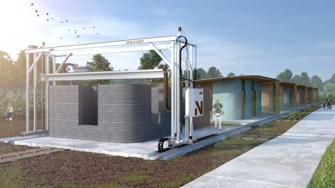 Häuser aus dem 3D-Drucker©ICON / New Story