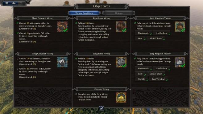 Total War Saga – Thrones of Britannia: Siegbedingungen©Sega/Creative Assembly
