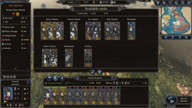 Total War Saga – Thrones of Britannia: Truppen ausheben©Sega/Creative Assembly