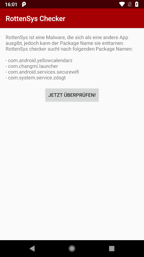 Screenshot 1 - Ashampoo RottenSys Checker für Android