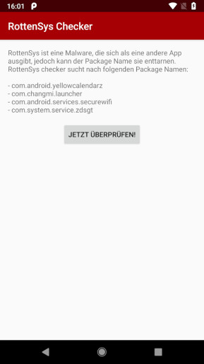 Ashampoo RottenSys Checker für Android