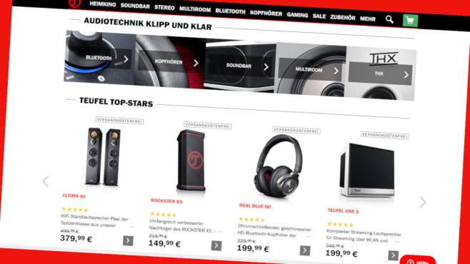 Rabatt bei Teufel©Screenshot www.teufel.de