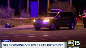 Videostandbild: Unfall mit Uber-Roboterwagen©dpa-Bildfunk