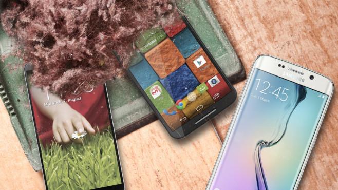 Smartphones ohne Updates©istock/piccerella, Zeug, LG, Motorola, Samsung