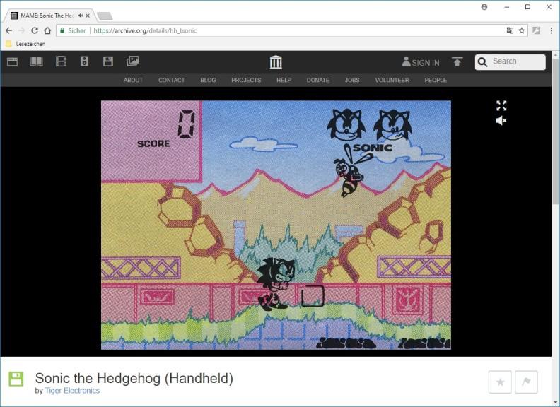 Screenshot 1 - Handheld History: Konsolen-Klassiker im Browser zocken