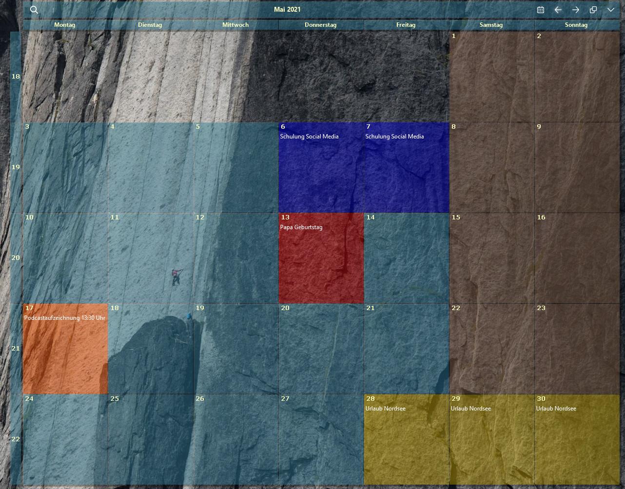 Screenshot 1 - Desktop-Kalender (Desktop Calendar)