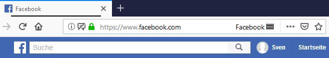 Screenshot 1 - Facebook Container für Firefox