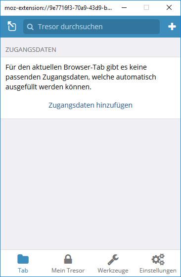 Screenshot 1 - Bitwarden Passwort-Manager für Firefox