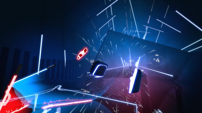 """PSVR: Sony setzt 2018 auf Spielevielfalt """"Beat Saber"""" bietet ein dank der Laserschwerter sogar einen Hauch von """"Star Wars"""".©Beat Games"""