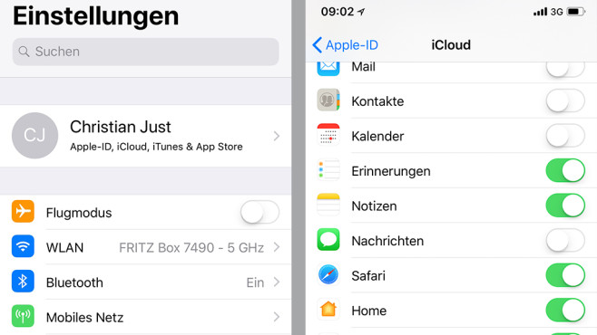 Apple: iMessage in der Cloud © COMPUTER BILD
