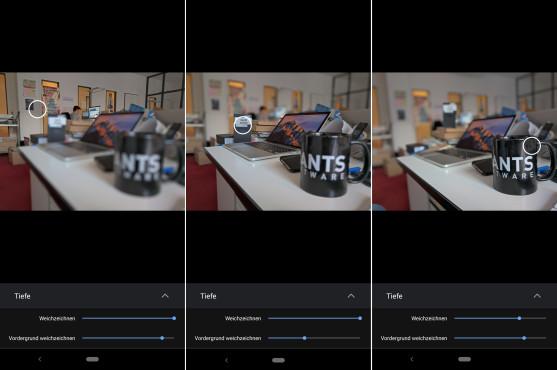 Nokia 9 PureView mit fünf Kameras: Daten, Vorstellung, Release, Preis Schießt man Fotos mit aktivierter Tiefenwirkung, kann man die Schärfe- und Unschärfe-Ebene auch nachträglich noch auf jeden Bildbereich legen (in Google Fotos).©COMPUTER BILD