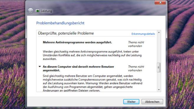 Windows Problembehandlungsübersicht©COMPUTER BILD