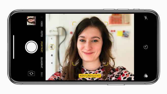 iPhone X Selfie©Apple, Screenshot COMPUTER BILD