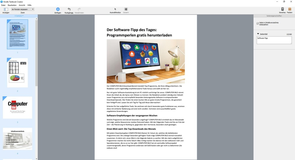 Screenshot 1 - Kindle Textbook Creator