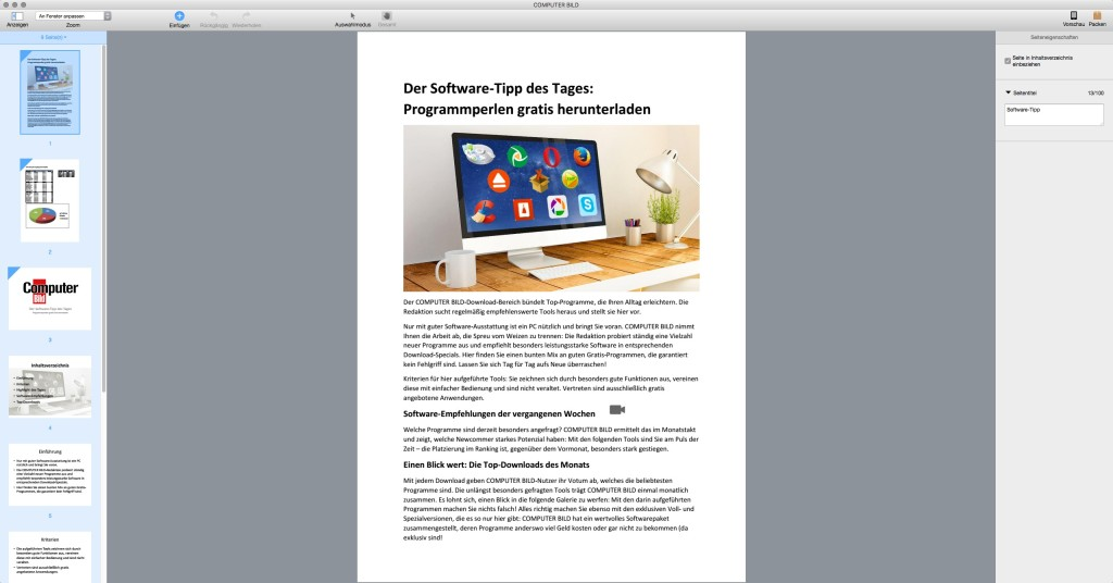 Screenshot 1 - Kindle Textbook Creator (Mac)