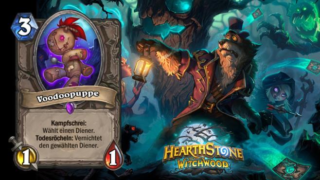 """Hearthstone – Der Hexenwald: Die besten Karten Grade durch die Synergien mit dem Krieger und Magier könnte die """"Voodoopuppe"""" häufig gespielt werden.©Blizzard"""