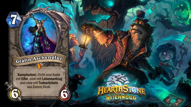 """Hearthstone – Der Hexenwald: Die besten Karten Starker Body mit gleichzeitigem Carddraw – """"Gräfin Aschenglut"""" ist ein echtes Allroundtalent.©Blizzard"""