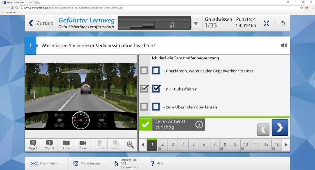 Screenshot 1 - Führerschein-Fragenkatalog für Theorieprüfung (April 2018)