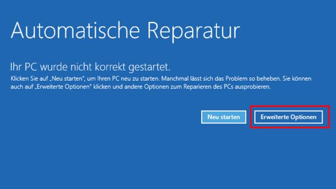 Automatische Reparatur ©COMPUTER BILD