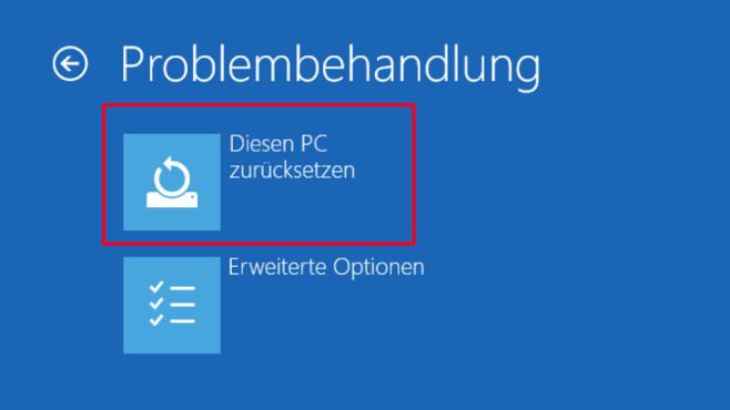 PC zurücksetzen ©COMPUTER BILD