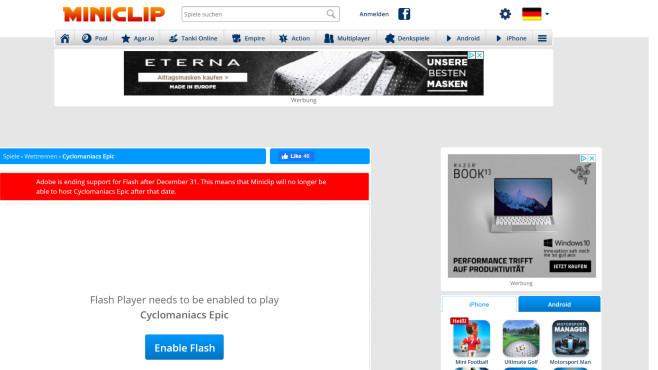 Flash Player unnötig? Einige Websites nutzen ihn noch – diese tun es (nicht mehr)©COMPUTER BILD