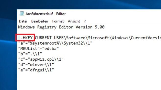 Editor: Registry-Bereiche löschen ©COMPUTER BILD