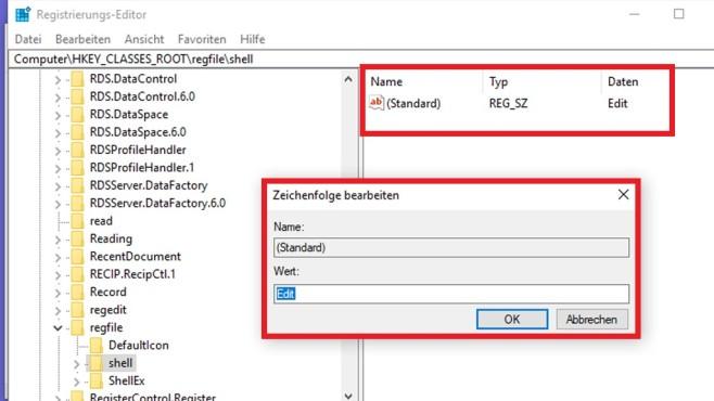 REG-Dateien nur im Editor öffnen ©COMPUTER BILD
