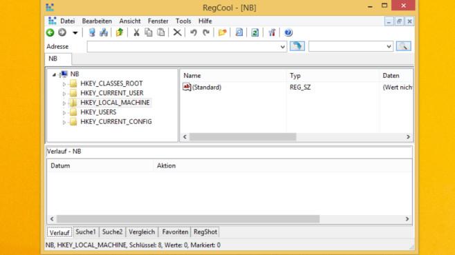 Registry-Editor samt Tuning: RegCool ©COMPUTER BILD