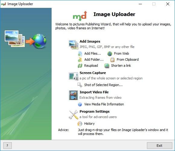 Screenshot 1 - Image Uploader
