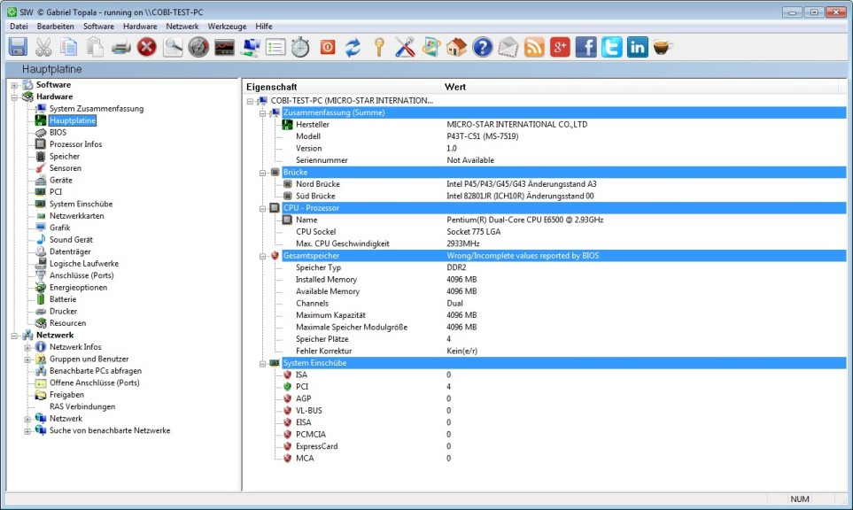 Screenshot 1 - SIW 2013 (System Information for Windows)