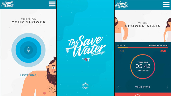 The Save Water Challenge © Google Play Store / Redtube