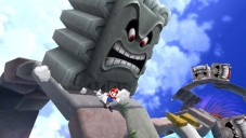 Super Mario Galaxy: Richtiges Timing ist gefragt, um nicht unter die Klötze zu geraten.