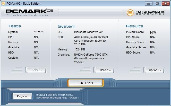 Screenshot 1 - PCMark05