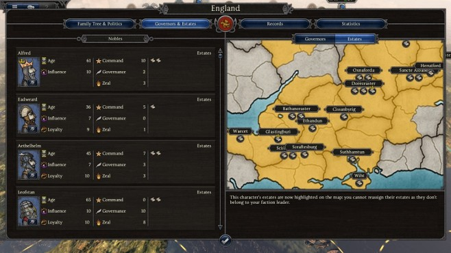Total War Saga – Thrones of Britannia: Estates©Sega/Creative Assembly