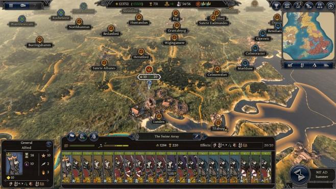 Total War Saga – Thrones of Britannia: Kampagnenkarte©Sega/Creative Assembly