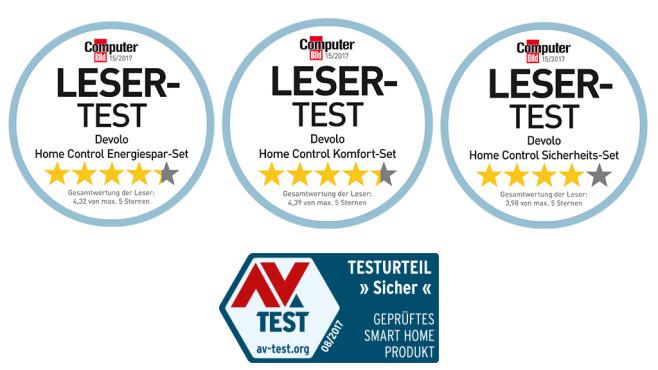"""Smarter Wohnen mit Home Control 10 COMPUTER BILD-Leser haben Ende 2017 Smart Home-Produkte von devolo in den Kategorien """"Energiesparen"""", Komfort"""" und """"Sicherheit"""" mehrere Wochen lang ausprobiert©devolo"""