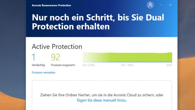 Acronis Ransomware Protection: Verschlüsselungs-Trojaner abwehren ©COMPUTER BILD