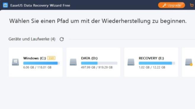 EaseUS Data Recovery Wizard Free: Dateien retten ©COMPUTER BILD