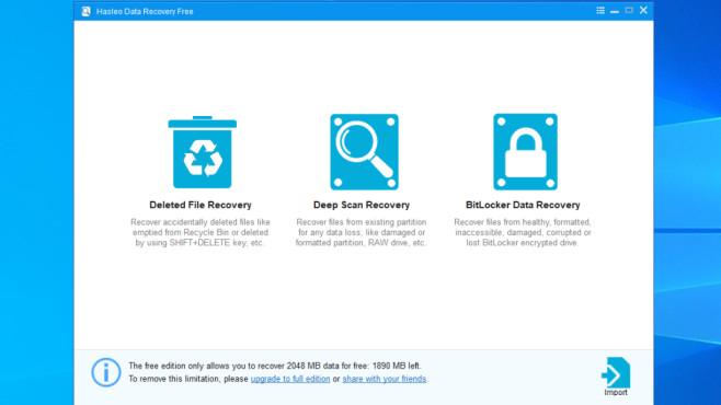 Hasleo Free Data Recovery: Datenretter mit BitLocker-Support ©COMPUTER BILD
