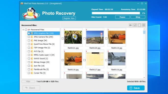 MiniTool Photo Recovery ©COMPUTER BILD