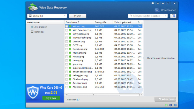 Wise Data Recovery ©COMPUTER BILD