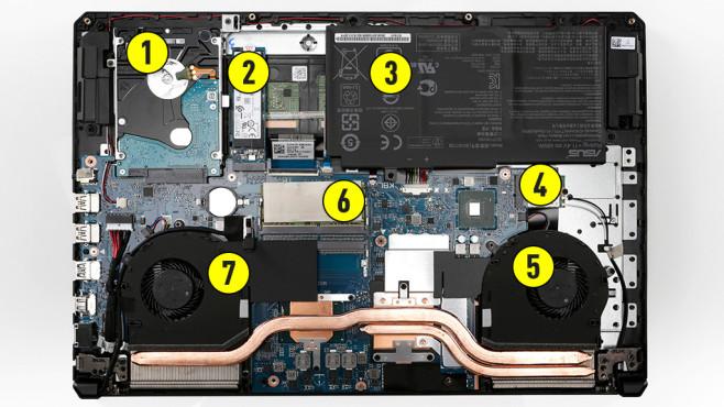 Asus TUF Gaming FX504 – Technik erklärt©COMPUTER BILD