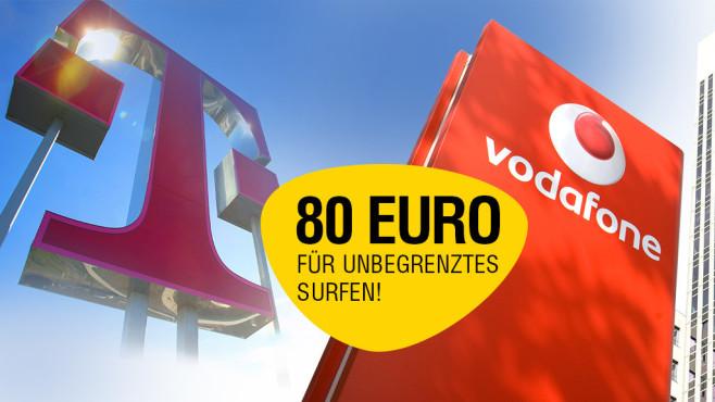 Vodafone und Telekom im großen XL-Duell: Wer bietet den besten Flat-Tarif ohne Drosselung?©Telekom, iStock.com/AM-C