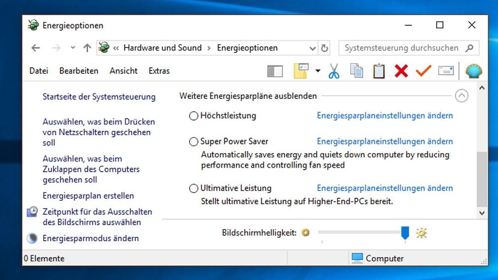 """Windows 10: """"Ultimative Leistung""""-Energiesparplan freischalten Laut Microsoft-Blog eliminiert der neue Modus kleinste Verzögerungen, sogenannte Mikro-Latenzen. Erstausrüster (auch OEM-Gerätehersteller genannt) dürfen ihn auf ihre PCs vorab aufspielen, da sie ihre Produkte nicht in den Einzelhandel bringen."""