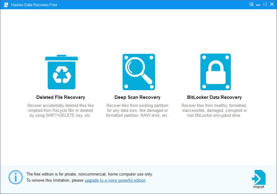 Screenshot 1 - Hasleo Free Data Recovery