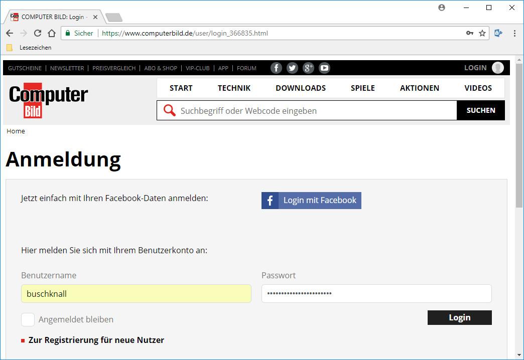 Screenshot 1 - Password Depot für Chrome