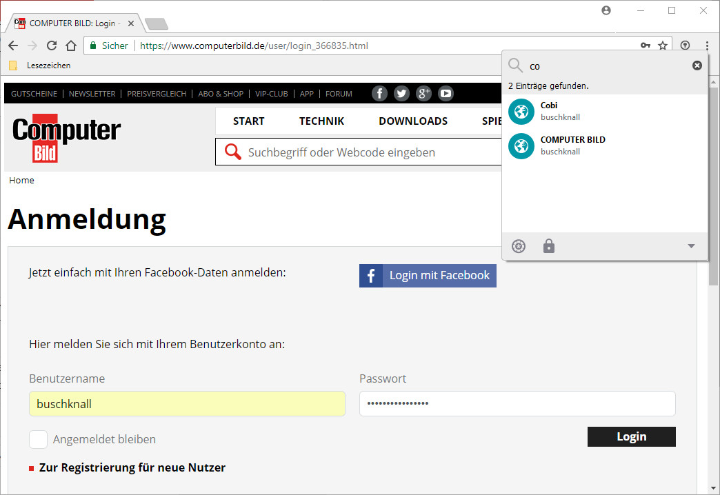 Screenshot 1 - Enpass Password Manager für Chrome